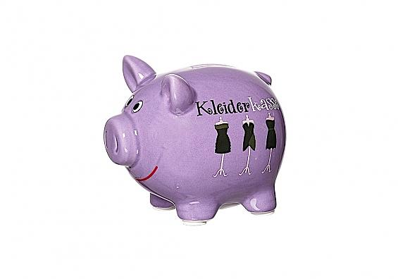 Sparschweine in verschiedenen Sorten Sparschwein violett Kleiderkasse
