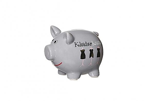 Sparschweine in verschiedenen Sorten Sparschwein grau Kleiderkasse
