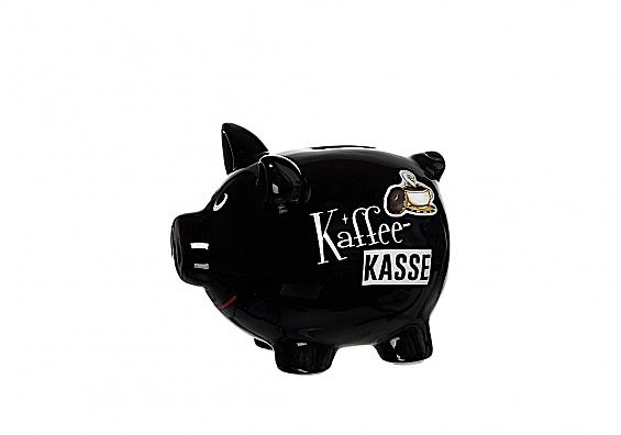 Sparschweine in verschiedenen Sorten Sparschwein schwarz Kaffeekasse