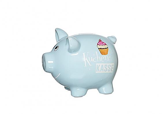 Sparschweine in verschiedenen Sorten Sparschwein hellblau Kuchenkasse