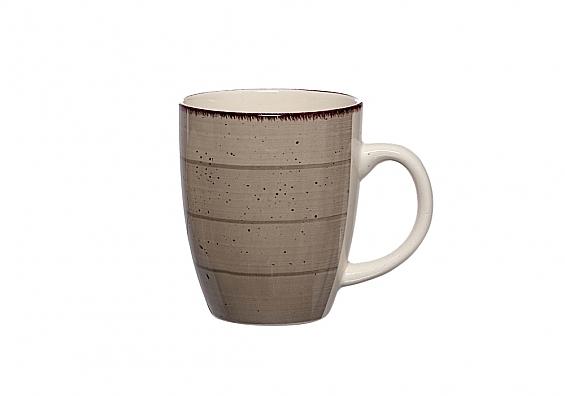 Kaffeebecher Happy grau