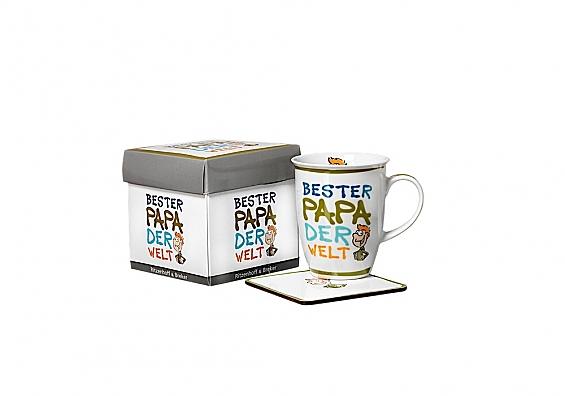 Kaffeebecher mit Untersetzer Beste/Bester... Kaffeebecher Bester Papa