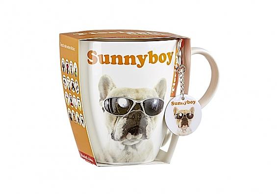 Geschenk-Set Jumbotasse mit Anhänger Tiere Jumbotasse mit Anhänger Sunnyboy