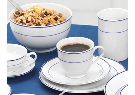 Geschirr-Serie Basic Blue Snap Kaffeeservice 18tlg.