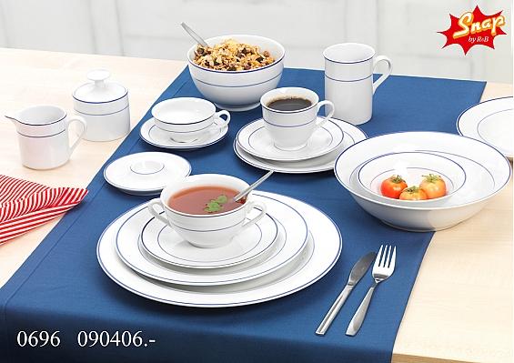 Geschirr-Serie Basic Blue Snap Zucker-Gießer-Set 2tlg.