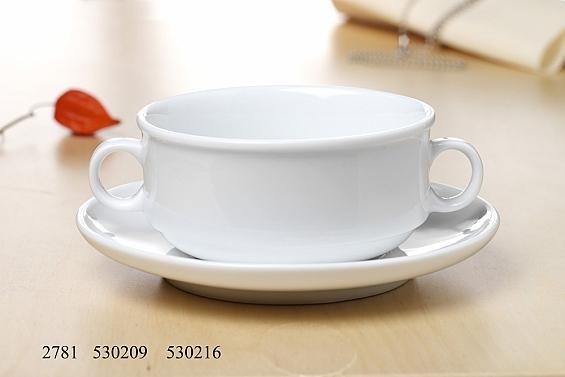Geschirr-Serie Bianco Suppentassen-Set, stapelbar