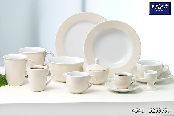 Geschirr-Serie Doppio creme 6 Kaffeebecher