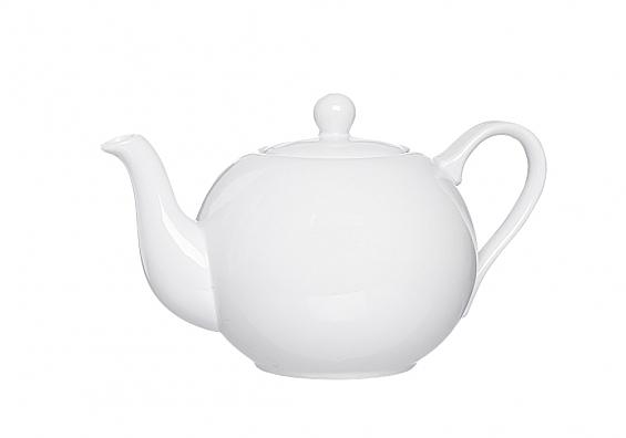 Teekanne und Stövchen Bianco