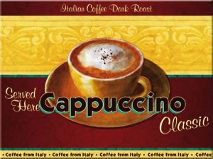 Kühlschrankmagnet Cappuccino