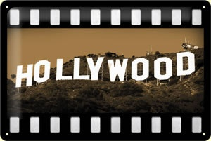 Blechschild  Hollywood-Schriftzug