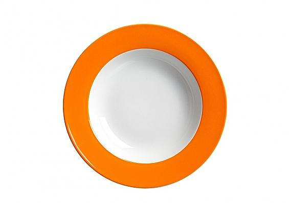 Suppenteller Doppio orange