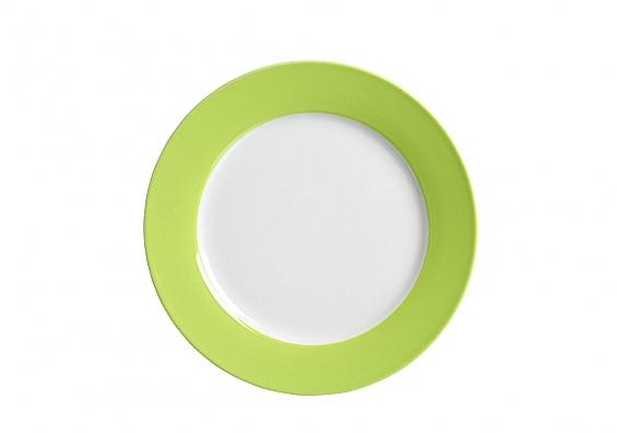 Kuchenteller Doppio grün
