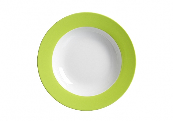 Suppenteller Doppio grün