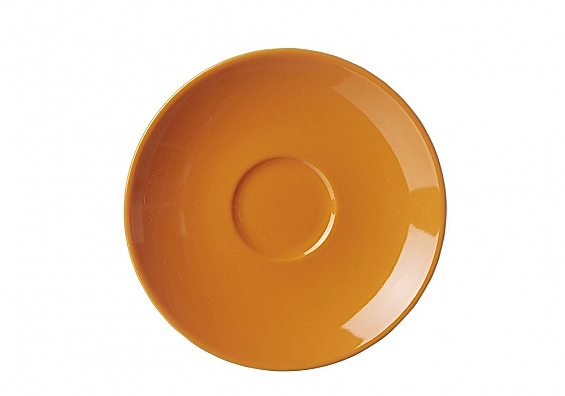 Espresso-Untertasse Doppio orange