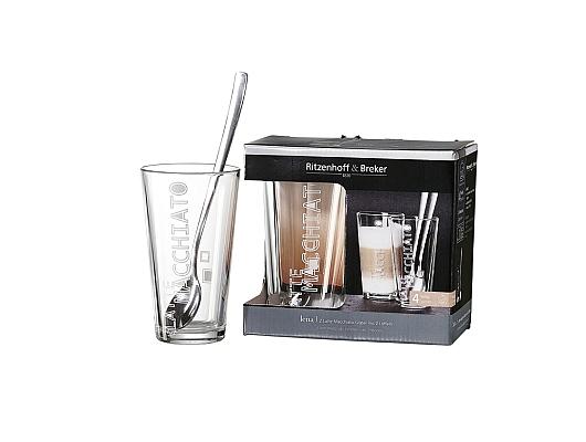 Latte Macchiatogläser+Löffel Lena