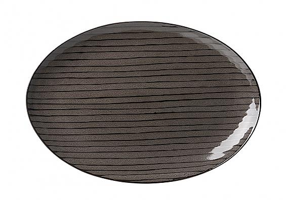Geschirr-Serie Iowa Platte oval braun