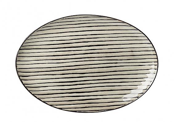 Geschirr-Serie Iowa Platte oval sand