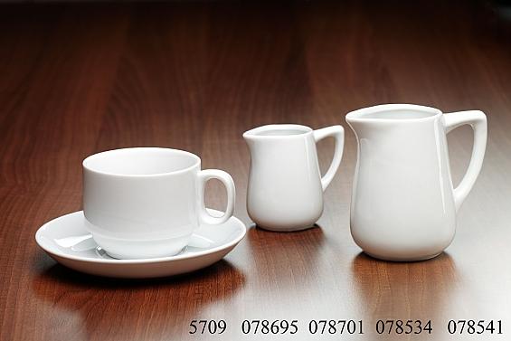 Geschirr-Serie Bianco 6er Pack Kaffeetassen stapelbar