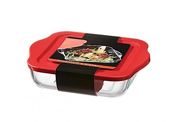 Auflaufform mit Frischhaltedeckel Cucina Auflaufform mit Deckel eckig 1900ml Cucina
