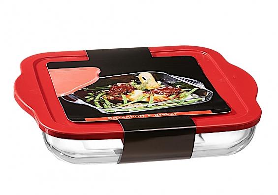 Auflaufform mit Frischhaltedeckel Cucina Auflaufform mit Deckel eckig 3200ml Cucina
