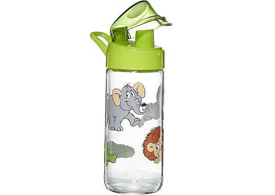 Glas-Trinkflasche Happy Zoo