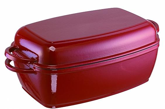 Multi-Bräter Rustika aus Gusseisen rot