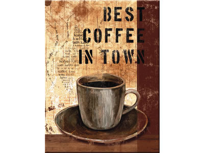 Kühlschrankmagnet Best Coffee in Town