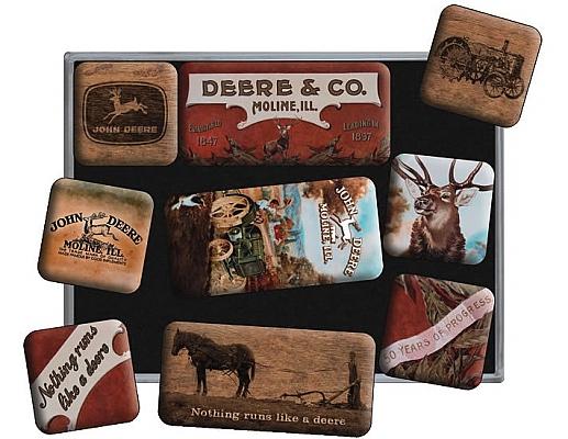 9-teiliges Magnet-Set John Deer Nostalgic