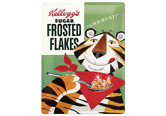 Blechschild Kelloggs Frostet Flakes Tony Tiger