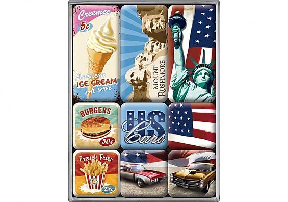 9-teiliges Magnet-Set American Way of Life