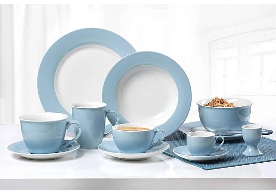 Geschirr-Serie Doppio nordic-blau