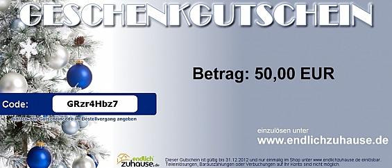 Geschenkgutschein - Weihnachten Gutscheinwert: 75 EUR