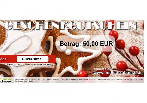 Geschenkgutschein - Weihnachten II Gutscheinwert: 25 EUR