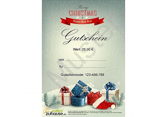 Last-Minute-Geschenkgutschein Gutscheinwert: 75 EUR