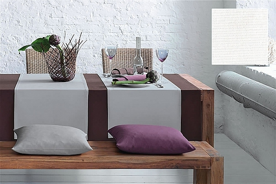 Kissenhülle 40x40cm Como, Farbe: weiß