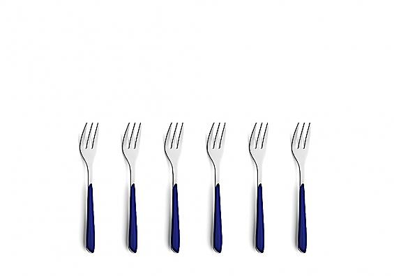 Kuchengabel-Set 6tlg. Prisma indigo blau