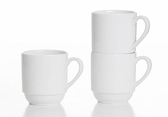 6er-Set stapelbare Kaffeebecher