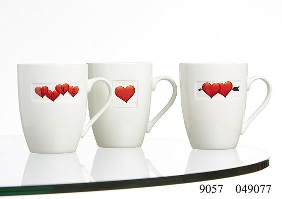 3er-Set Kaffeebecher Hearts