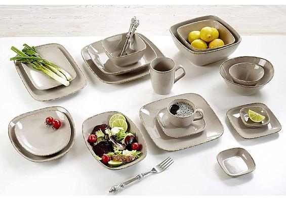 Geschirr-Serie Casa grau 6er-Set Kaffeebecher