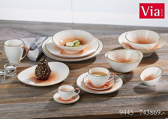 Geschirr-Serie Cosmo orange 6er-Set Kaffeebecher