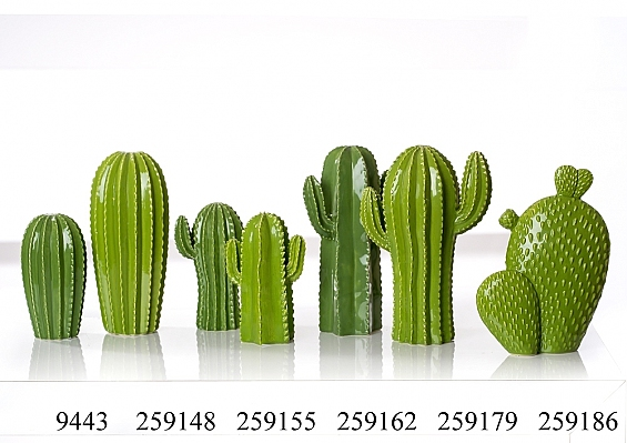 Deko-Kaktus Cereus 2er-Set Kakteen ohne Arm