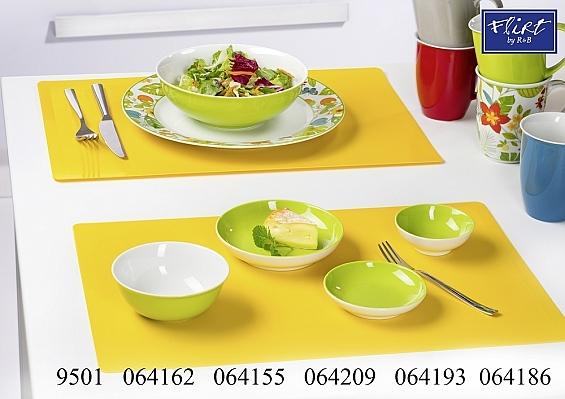 Geschirr-Serie Doppio grün 2er-Set Salatschüsseln 17,5cm