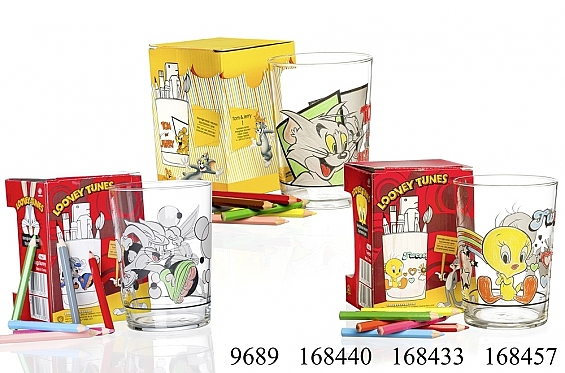 Kinderglas mit Stiften Looney Tunes