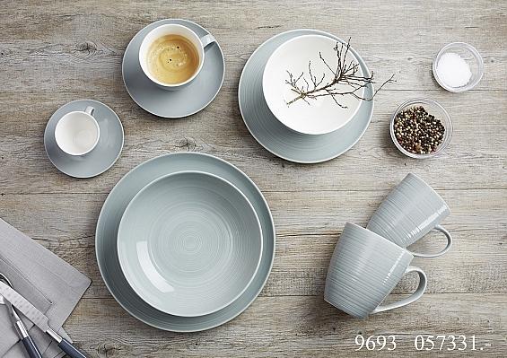Geschirr-Serie Suomi grau-blau