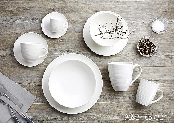 Geschirr-Serie Suomi cremeweiß 6er-Set Kaffeebecher