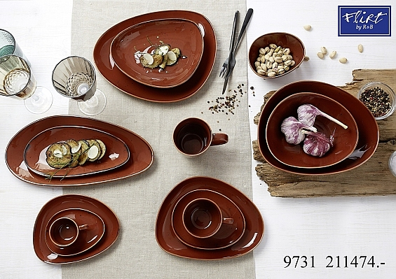 Geschirr-Serie Taste marron 2er-Set Servierschalen