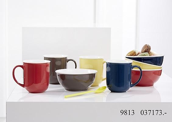 Frühstücksgeschirr Colori 4er-Set Kaffeebecher