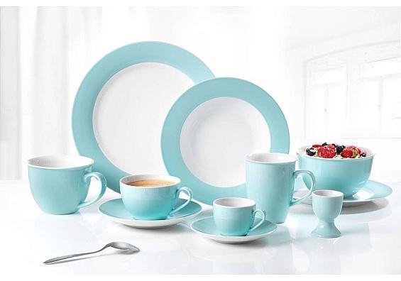 Geschirr-Serie Doppio türkis Espresso-Set 12tlg.