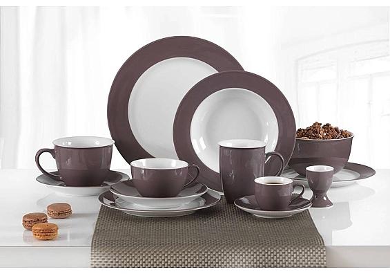 Geschirr-Serie Doppio toffee 6er-Set Kaffeebecher