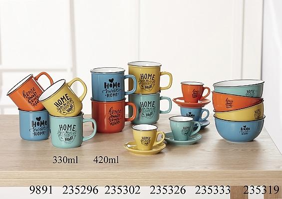 Frühstücksgeschirr Home 4er-Set Jumbo-Kaffeebecher